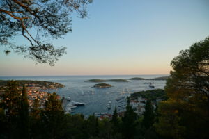 Hvar - popular marina with historic centre